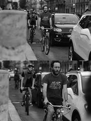 [La Mia Città][Pedala] (Urca) Tags: milano italia 2016 bicicletta pedalare ciclisti ritrattostradale portrait dittico nikondigitale mirò bike bicycle biancoenero blackandwhite bn bw 907161