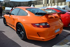 Porsche 911 GT3 RS 997 (Monde-Auto Passion Photos) Tags: auto automobile porsche 911 gt3 rs 997 coupé orange france rally paris evenement supercar sportive