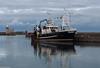 Endeavour (peterphotographic) Tags: pc030190edwm olympus em5mk2 microfourthirds ©peterhall howth dublin eire ireland europe port harbour mooring boat ship vessel fishingboat dusk lighthouse endeavour