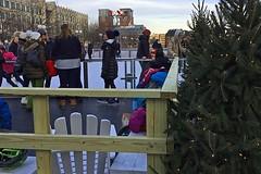 Skates-Changing Bench (AntyDiluvian) Tags: boston massachusetts winter holidayseason cityhall cityhallplaza bostonwinter skating skaters rink