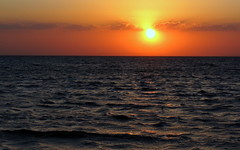 End Of The Day (Khaled M. K. HEGAZY) Tags: nikon coolpix p520 rassedr egypt nature outdoor closeup yellow blue white orange black sea red water sun sunset sky cloud