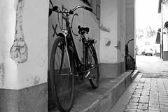 One day in Kikinda/Jedan dan u Kikindi (salaminijo) Tags: blackandwhite monochrome bw crnobela kikinda serbia vojvodina day bicycle bajs bicikl gate light atmosphere lightanddark shadows winter canon eos markiii 1d ef28135mm explore street view januar january camera haustor detail outdoor