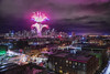 Seattle Welcomes the Year 2017 (TIA International Photography) Tags: seattle happy new year 2017 skyline city cityscape fireworks firecrackers holiday spaceneedle downtown urban landscape night landmark buildings row houses rooftop cloudy illumination street intersection pacificnorthwest washingtonstate winter tosinarasi tia ©tiainternationalphotography