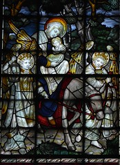 Flight into Egypt (Aidan McRae Thomson) Tags: southwell minster cathedral nottinghamshire stainedglass window victorian kempe