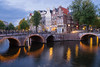 canal cross (xgrager) Tags: canal building bridge travel water city bluemoment amsterdam arquitecture fujifilm xe2