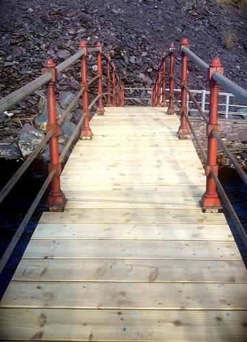 New planks on bridge.