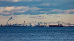 Delaware River - Tamron 70-300mm - Canon 5D Mark IV (abysal_guardian) Tags: delaware river tamron 70300mm canon 5d mark iv fox pint state park eos 5dmarkiv 5dm4 5dmk4 5d4 tamronsp70300mmf456divcusd di vc usd f456 factory smoke stack clouds ship