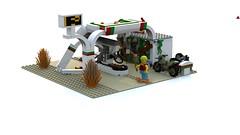 Gas Station (MaxFragg) Tags: apocalypse lego ldd octan gasstation