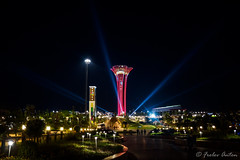 EXPO 2016 in Antalya, Turkey (anton_frolov) Tags: outdoor lights color expo2016 expo turkey antalya sony a65 plant lamppost tower night landscape trees