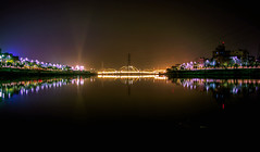 Hatirjhil, Dhaka ((͡° ͜ʖ ͡°)) Tags: dhaka hatirjhil lake waterscape reflaction longexposure night lights cityscape outdoor park