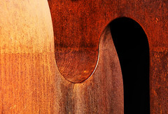 Shifting Curves (studioferullo) Tags: abstract art beauty bright bronze colorful gold brown ocher ochre contrast curve dark design detail downtown edge elpresidio geometry light metal minimalism outdoor outside pattern pretty rust sculpture serene tranquil shadow study sunlight sunshine texture tone weathered world musem tucson arizona dennisjones