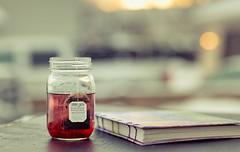 stillness (auntneecey) Tags: tea journal nopersonhastherighttorainonyourdreams teabagwisdom stillness 365the2017edition 3652017 day7365 7jan17 goldenhour morning
