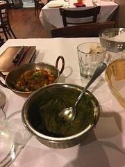 Done with dinner and still have plenty for tomorrow (bobmendo) Tags: spinach saagwalagosht saag indian dinnerforone dinner single