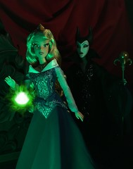 To Her Fate... (MaxxieJames) Tags: sleeping beauty aurora maleficent disney doll dolls collector collection le limited edition villains villain princess fairytale store briar rose