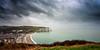 Etretat (CrËOS Photographie) Tags: mer nuages ciel pluie paysage plage sea clouds sky rain beach landscape cliff falaise