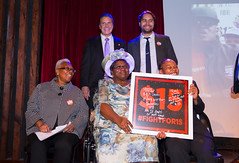 Selected Photos (governorandrewcuomo) Tags: governorandrewmcuomo fightforfairpay communitiesforchange 15 minimumwage livingwage jobs economy mariocuomocampaignforeconomicjustice bellhouse award fightfor15 stage jonathanwestin shantelwalker plaque smile warm friendly presentation mariepierre dorothyamadi quinnstaudt groupphotograph brooklyn newyork usa