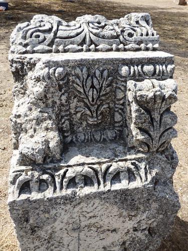 Uzuncaburc temple architectural details