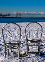 Time for a Rest (Jim Gritton) Tags: vancouver winter sculpture