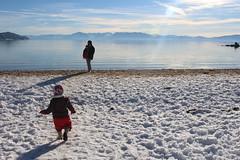 Running to Dada (quinn.anya) Tags: sam preschooler sand snow laketahoe sandharbor lake
