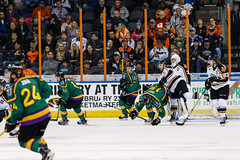 "Missouri Mavericks vs. Quad City Mallards, January 21, 2017, Silverstein Eye Centers Arena, Independence, Missouri.  Photo: John Howe / Howe Creative Photography • <a style=""font-size:0.8em;"" href=""http://www.flickr.com/photos/134016632@N02/32487053766/"" target=""_blank"">View on Flickr</a>"