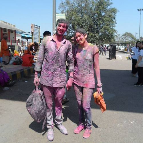 Enjoying the Festival #HoliFestival #India