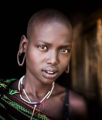 Etiopia (mokyphotography) Tags: etiopia southetiopia people persone donna woman ritratto portrait etnia ethnicity ethnicgroup eyes occhi viso face tribù tribe tribal travel omovalley valledellomo magopark mago mursi