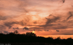 Lovely sky out the back tonight.... (joanjbberry) Tags: moore warrington sunset sky nearlyspring cheshire home clouds landscape
