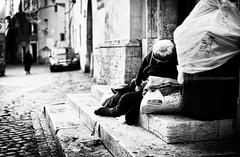 Trastevere, Roma 2016 # 12 (davide978) Tags: davide978 mg7178 roma italy italia man povertà sagrato chiesa vicolo piazza scalini scale uomopovero sofferenza tristezza homeless 2016 12 steet strada dormire sonno trastevere canon ef 50mm f14 usm canonef50mmf14usm ©davide978photography © photography
