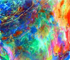 Fluid geometry II (alexis neault art) Tags: abstract art flow fluid fluidity movement artist painting prints populars paint acrylics original organic flickr instagram alexis neault colors couleurs sunset landscape vibrant painter