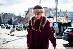 Matriarchal (ewitsoe) Tags: woman lady wilda erikwitsoe nikond80 35mm street city urban poznan poland polska olderlady polish europe age histroy elder older winter redcoat fur hat dressed