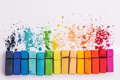 9/52 Colorful (Nathalie Le Bris (OFF)) Tags: couleur pastel rainbow color colorful stilllife painting rainbows smileonsunday