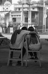 Dunia Milik Berdua (Firly Firman) Tags: agfa100 agfaapx100 agfa people pose spotmatic malang pentaxspotmatic streetphotography blackandwhite pancolar 50mmf18 pancolar50mm bnw 35mmfilm filmphotography monochrome couple