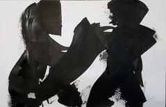 wollen Sie wirklich schon gehen (raumoberbayern) Tags: sketch painting abstract malerei robbbilder acryl acrylic black white schwarz weis