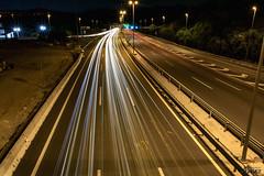2015-08-29 (Light trail test) (Death-Soul) Tags: road longexposure night lights luces noche nikon carretera lighttrails largaexposicin nikond3300 d3300