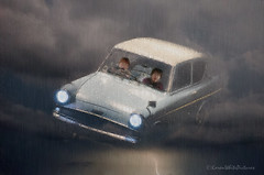 stormy night in the flying car (sure2talk) Tags: composite photoshop action cloning harrypotter warnerbros anglia studiotour panosfx nikond7000 harrypotterstudiotour tamron18270mmf3563dillvcpzd skyoverlay stormynightintheflyingcar