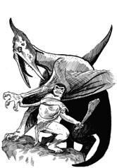 Pterosaur attack (moschops911) Tags: scifi sciencefiction caveman pterodactyl pterosaur