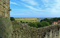 View over the River Coquet from Warkworth Castle. (Eddie Crutchley) Tags: england panorama castle river landscape countryside ruins europe northumberland warkworthcastle warkworth historicbuilding rivercoquet