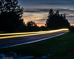 Sundown Light Streaks (that_damn_duck) Tags: sc timelapse sundown southcarolina lightstreaks carheadlights