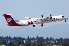 Horizon Air Dash 8 DHC-8-402 Q400 (N402QX), Seattle-Tacoma International Airport, Seattle (SEA) (TFG Lau) Tags: seattle sea canon airplane aviation jet aeroplane tacoma seatac canoneos spotting dash8 qx planespotting ksea horizonair dhc8402 qxe n402qx eos5dmarkiii ahkgapworldwide