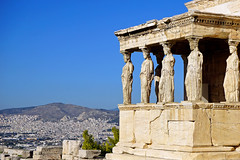 The Caryatids (basic hiking) Tags: athens greece griechenland caryatids tempel greektemple antike akropolis erechtheion ακρόπολη altertum baudenkmal αθήνα sonyalpha ερέχθειο karyatiden a5100 selp1650 sel1650 ilce5100