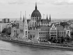 Budapest : le parlement (christian.grelard) Tags: blackandwhite bw noiretblanc budapest nb panasonic parlement danube dmc magyars hongrie fz28