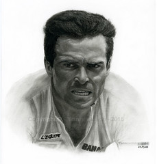 Dessin / Drawing - Bernard Hinault / Tour de France (French cyclist)  Yannewvision - 2015 ('Yannewvision') Tags: portrait blackandwhite bw man france illustration french sketch frankreich noiretblanc drawing sketching picture portrt dessin charcoal mann drawn tourdefrance dibujos 1985 francia hombre homme the80s yellowjersey  croquis zeichnung fusain pratice 2015  annes80 enblancoynegro maillotjaune bernardhinault  gelbestrikot  vainqueur kohlezeichnung   dibujoalcarbn schwarzundweis  leblaireau die80er yannewvision losaos80