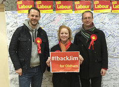 Supporting Labour's candidate in the Oldham West & Royton By-Election
