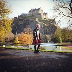 kilt and castle (nigelparrington) Tags: castle scotland edinburgh kilt view scot autumnal scotsman