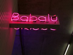 Babal (edgarzunigajr) Tags: road pink sign mall neon florida miami lincoln latino hispanic cuban miamibeach southbeach babalu sobe magiccity babal