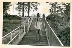 Theresa at Prospect Point. (dgrendus) Tags: prospectpoint theresa stanleypark vancouver 1970s