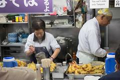 Tempura Nazi (Dominic Sagar) Tags: 2016 fujifilm japan restaurant t050 t100 t200 tsujiki xt1 fish food market stall tempura chūōku tōkyōto jp