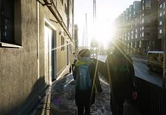 旅行者 Traveller (A photo, a story.) Tags: 旅行者 traveller 旅行 travel 街道 street 日出 sunrise 城市 city 赫尔辛基 helsinki 芬兰 finland