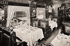 World's Fair, Chicago 1893 (Peer Into The Past) Tags: diningcar pullmancar train peerintothepast 1893 vintage history illinois worldsfair chicago