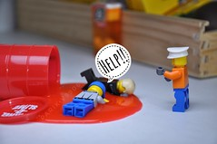 A Slimey Spill! (parik.v9906) Tags: dslr project days problem help stuck xenon indoors 365project 365days 365 gooey sticky slippery goo mess red slime d90 nikon minifigures minifigure minifig legos lego